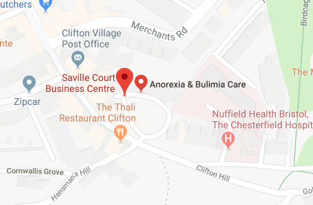 Map showing location of psychotherapist in Bristol